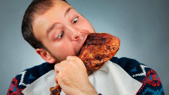 Mastica bien los alimentos