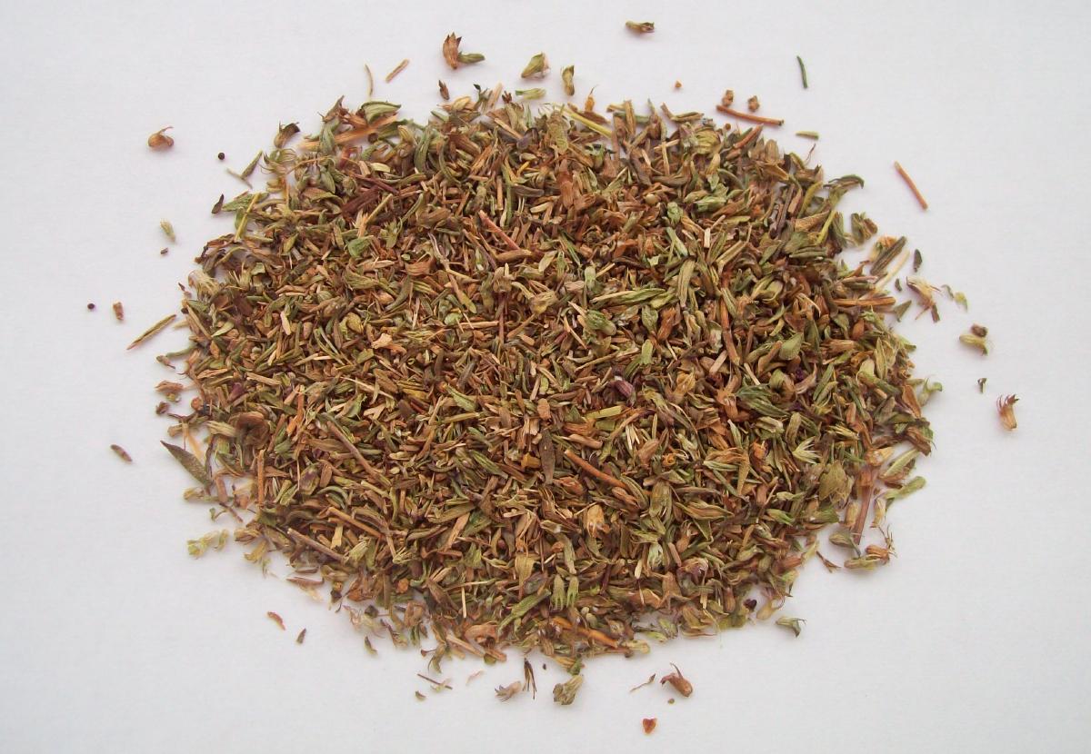 Foto de hojas de tomillo